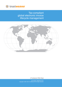 Tax-compliant global electronic invoice lifecycle management