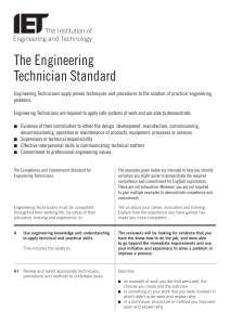 The Engineering Technician Standard