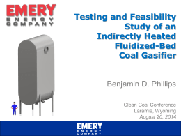 Testing and Feasibility Study of an Indirectly Heated Fluidized