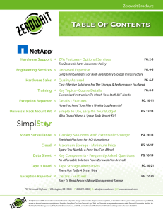 Table Of Contents - Zerowait Corporation