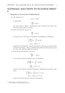 MATH10222: SOLUTIONS TO EXAMPLE SHEET1 0