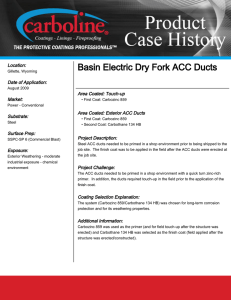 Basin Electric Dry Fork ACC Ducts