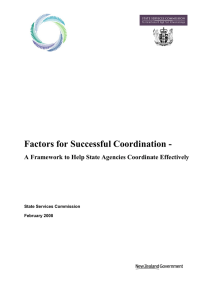 Factors for Successful Coordination