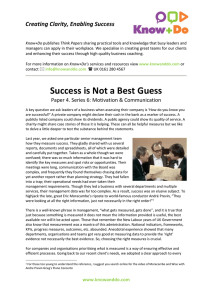 Success is Not a Best Guess