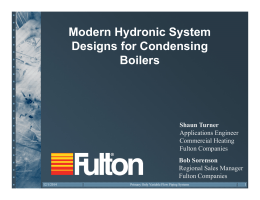 Modern Hydronic System Designs for Condensing