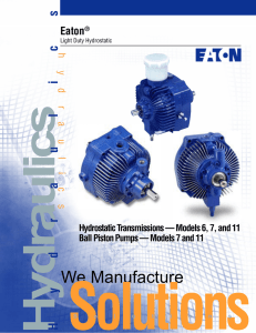 The Eaton Light Duty Hydrostatic Transmission