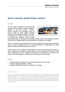 what can we learn from luxury?