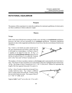 rotational equilibrium - Physics and Astronomy