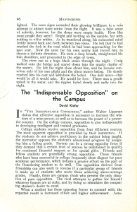 "The ""Indispensable Opposition"" on the Campus"
