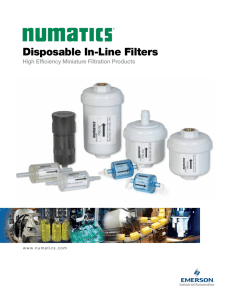 Disposable In-Line Filters