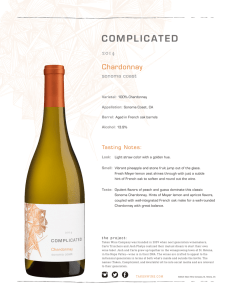 Complicated 2014 Chardonnay Fact Sheet