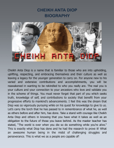 CHEIKH ANTA DIOP BIOGRAPHY