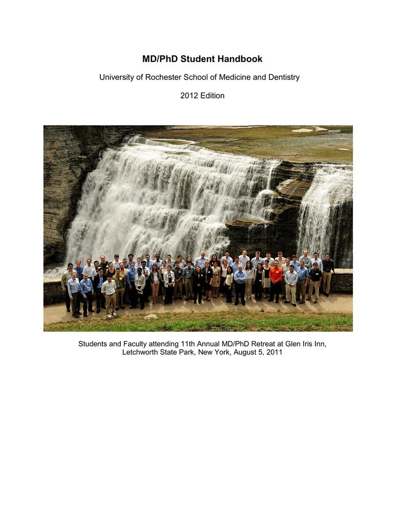 MD/PhD Student Handbook - University of Rochester Medical Center