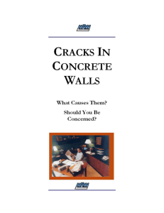 Cracking In Concrete Walls