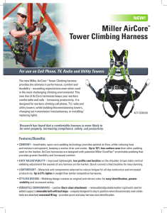 Miller AirCore™ Tower Climbing Harness