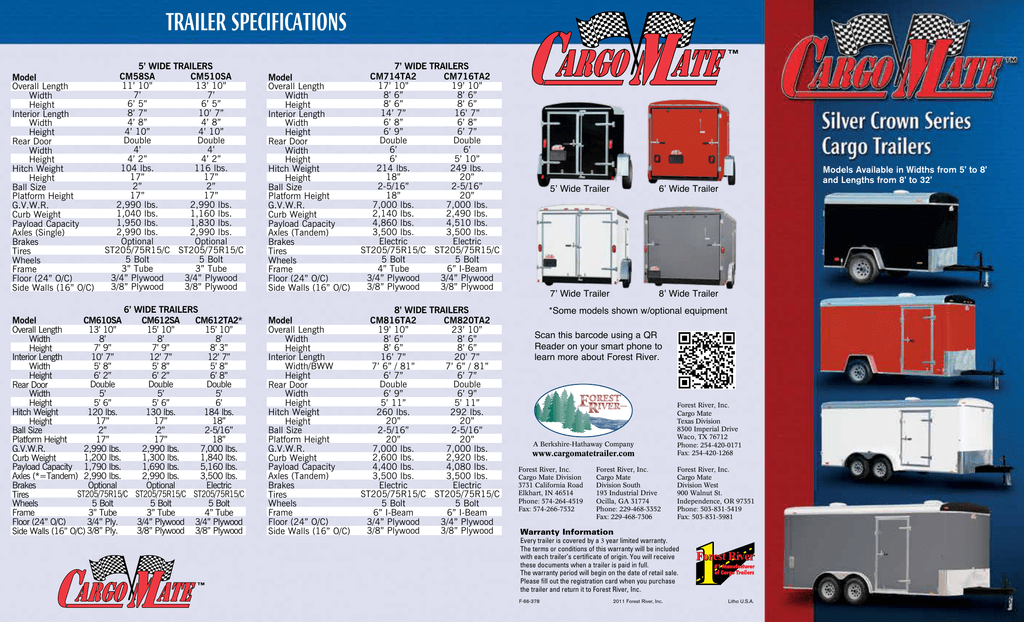 trailer specifications