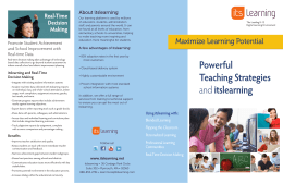 Powerful Teaching Strategies anditslearning
