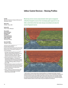 Inflow Control Devices—Raising Profiles