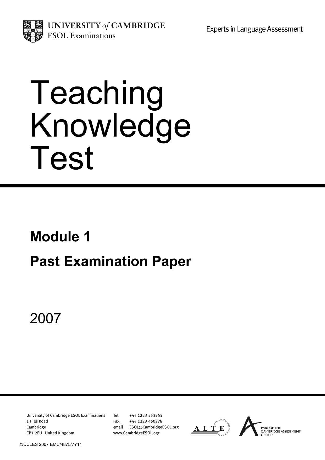[PDF] Tkt Exam Past Papers Module 2
