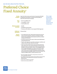 Preferred Choice Fixed Annuity1