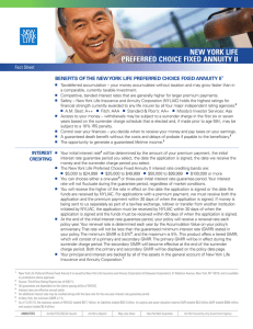 new york life preferred choice fixed annuity ii fact sheet