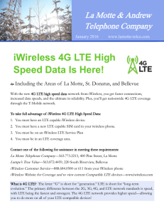 iWireless 4G LTE High Speed Data Is Here!