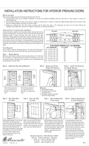 installation instructions for interior prehung doors