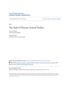 The State of Human-Animal Studies