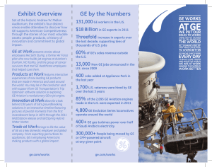 GE by the Numbers Exhibit Overview