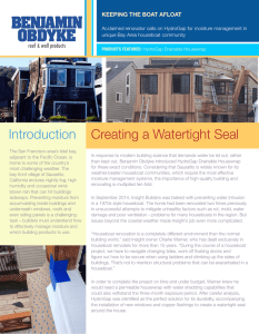Introduction Creating a Watertight Seal