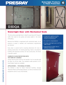 Watertight Door with Mechanical Seals