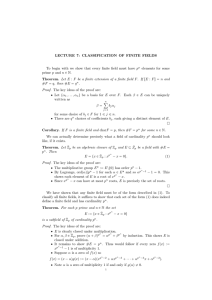 LECTURE 7 - Department of Mathematics