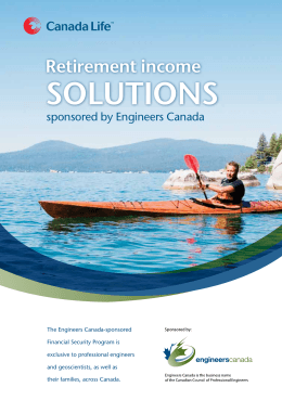 Retirement income solutions sponsored by Engineers Canada