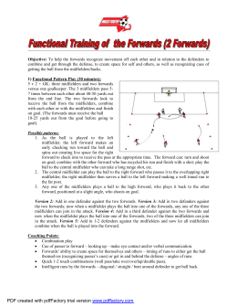 U14 Functional Training of the Forwards _2 Forwards_