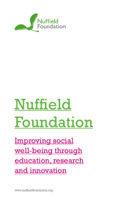 Nuffield Foundation leaflet
