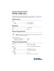 GPIB-USB-HS+ Device Specifications