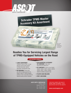 Schrader TPMS Master Accessory Kit Assortment
