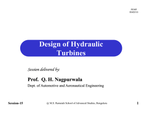 Design of Hydraulic Turbines