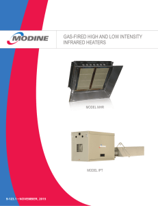 gas-fired high and low intensity infrared heaters