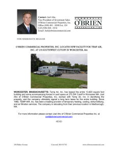 Press Release - O`Brien Commercial Properties