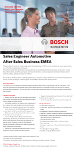 Sales Engineer Automotive After Sales Business EMEA