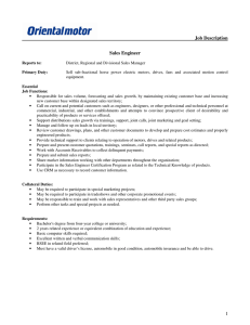 1 Job Description Sales Engineer