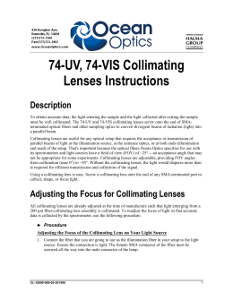 Collimating Lenses