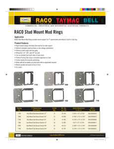 RACO Stud Mount Mud Rings - to Hubbell