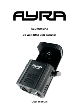 ALO 030 MKII 30 Watt DMX LED scanner User manual - Bax-shop