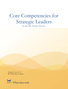 Core Competencies for Strategic Leaders