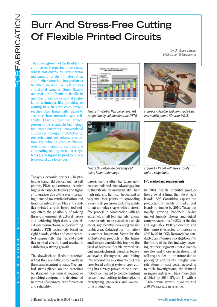 Burr And Stress-Free Cutting Of Flexible Printed Circuits