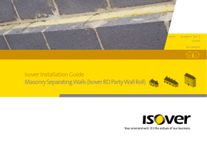 Isover Installation Guide Masonry Separating Walls (Isover RD Party