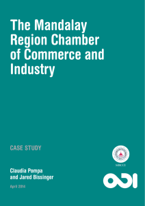 The Mandalay region chamber of commerce and industry report