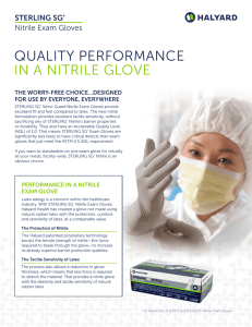 quality performance in a nitrile glove